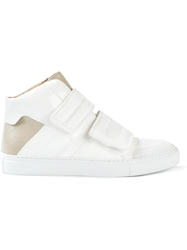 Maison Margiela Velcro Hi Top Sneakers White