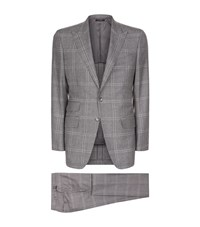 Tom Ford O'connor Houndstooth Suit Male Grey