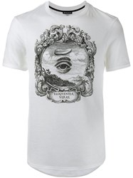 Ann Demeulemeester Black Eye Print T Shirt White