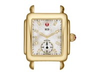 Michele Deco Gold Diamond Dial Watch Head Gold Watches