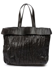 Numero 10 Textured Leather Shoulder Bag Black