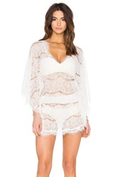 Queen And Pawn Mykonos Lace Short Kaftan White