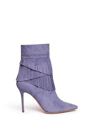 Aperlai 'Penelope' Fringed Suede Boots Blue