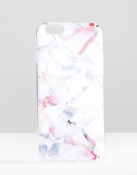 Signature Iphone 6 Case In Watercolour Crystal Print Pink
