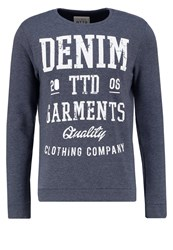 Tom Tailor Denim Basic Fit Sweatshirt Night Sky Blue Dark Blue