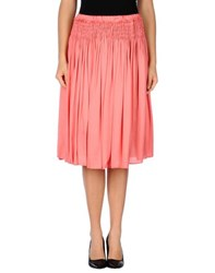 Alysi Skirts Knee Length Skirts Women Coral