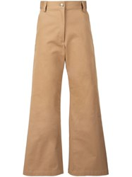 Rachel Comey Flared Cropped Pants Nude And Neutrals