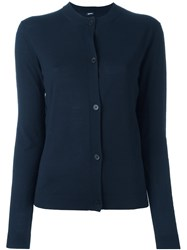 Jil Sander Navy Button Down Cardigan Blue