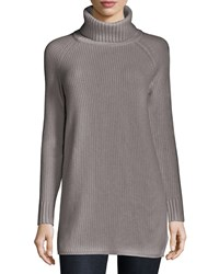 Theory Eurala Cashmere Turtleneck Sweater Heather Gray