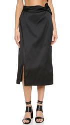 3.1 Phillip Lim Knotted Side Slit Skirt Black