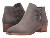 Frye Ray Belted Bootie Dark Grey Suede Cowboy Boots Gray