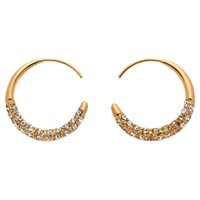 Melissa Odabash Swarovski Crystal Orbit Hoop Earrings Rose Gold