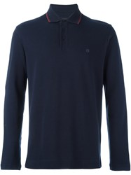 Z Zegna Chest Logo Polo Shirt Blue