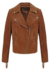 Freaky Nation Twister Leather Jacket Cognac