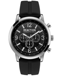 Kenneth Cole Reaction Men's Black Silicone Strap Watch 44Mm 10030929