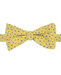 Tommy Hilfiger Men's Floral Print To Tie Bow Tie Yellow