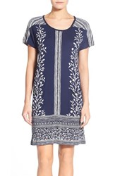 Women's Lucky Brand Border Print T Shirt Dress