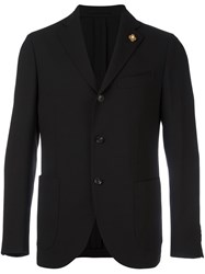 Lardini Three Button Blazer Black