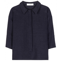 Valentino Linen Blouse Indaco