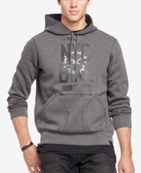 Polo Ralph Lauren Men's Big And Tall Double Knit Hoodie Fortress Grey
