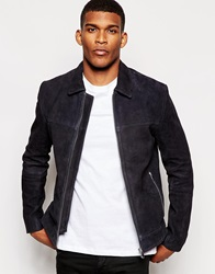 Reiss Suede Jacket Midnightnavy