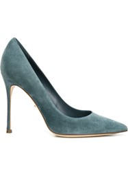 Sergio Rossi Pointed Toe Pumps Blue