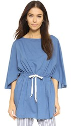 Solid And Striped The Poppy Woven Cover Up Washed Indigo