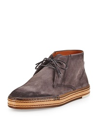 Cortina Suede Ankle Boot Gray Berluti