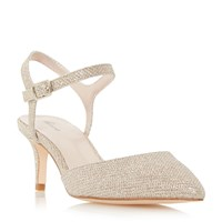 Linea Damble Two Part Mid Heel Court Shoes Gold