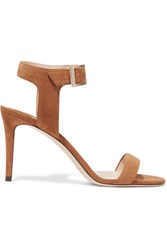 Jimmy Choo Truce Suede Sandals Tan