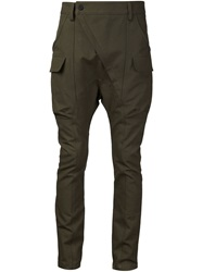 Alexandre Plokhov Tapered Cargo Trousers Green
