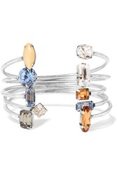 Dannijo Asteroid Set Of Five Oxidized Silver Plated Swarovski Crystal Cuffs