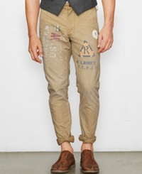 Denim And Supply Ralph Lauren Utility Cotton Canvas Pants Boulder Khaki