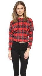 Glamorous Checked Sweater Red Check