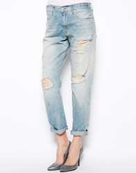 Denim And Supply Ralph Lauren Denim And Supply By Ralph Lauren Boyfriend Jeans With Rips Light Wash Blue