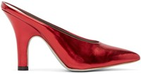 Amelie Pichard Red Metallic Pamela Anderson Edition Mules