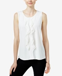 Charter Club Sleeveless Ruffled Top Only At Macy's Cloud