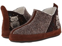 Acorn Forest Bootie Chocolate Owl Women's Slippers Brown