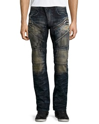 Prps Barracuda Faded Moto Style Jeans Indigo