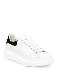 Alexander Mcqueen Leather Platform Sneakers Soft White