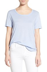 Women's Splendid Scoop Neck Jersey Tee Lavender Blue