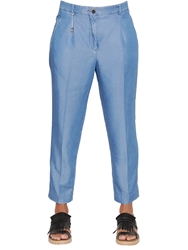 Incotex Luna Light Chambray Denim Pants Blue