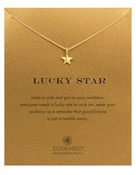 Dogeared 'Lucky Star' Pendant Necklace Gold