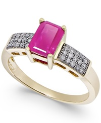 Macy's Ruby 1 1 10 Ct. T.W. And Diamond 1 6 Ct. T.W. Ring In 14K Gold Red