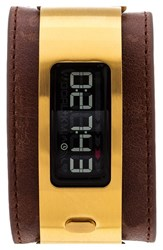 Men's Garmin 'Vivofit 2' Digital Tracker Leather Strap Watch 10Mm