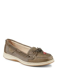 Sperry Dunefish Leather Boat Shoes Taupe