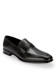 A. Testoni Leather Dress Slip Ons Nero