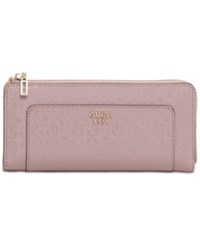 Guess Marian Slim Zip Wallet Blush