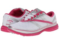 Callaway Solaire Se White Silver Pink Women's Golf Shoes