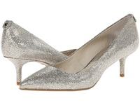 Michael Michael Kors Mk Flex Kitten Pump Silver Glitter Mirror Metallic High Heels